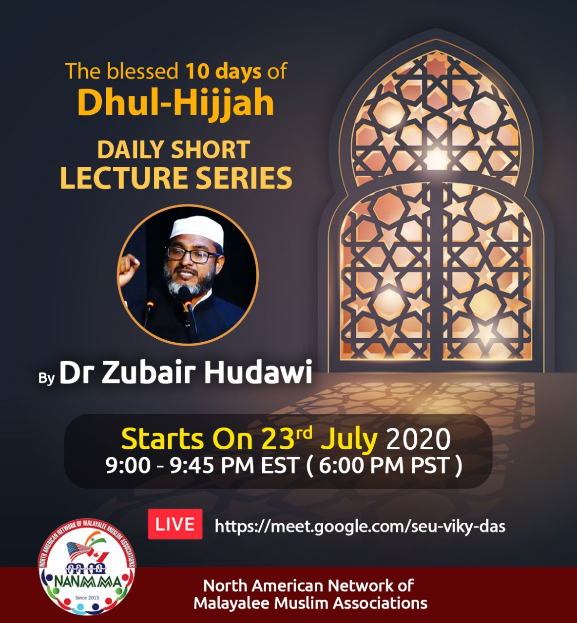 DHULHIJJAH DAILY SHORT LECTURE SERIES with Dr Zubair Hudawi