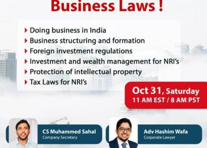 LET'S TALK BUSINESS LAWS!